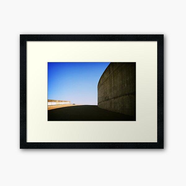 Concrete curve, Montreal Framed Art Print