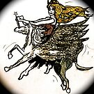 dark damsel flies by thecrossy