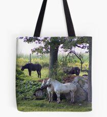 Dozing Percherons Tote Bag