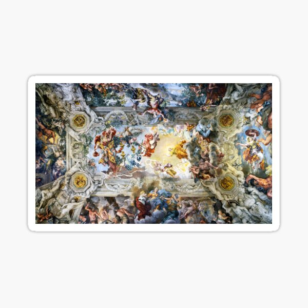 Allegory of Divine Providence and Barberini Power by Pietro Cortona (1639) Sticker