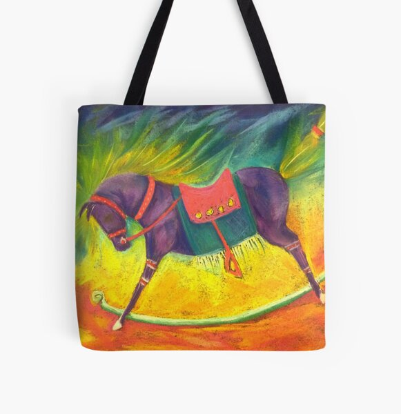 Rocky Horse All Over Print Tote Bag