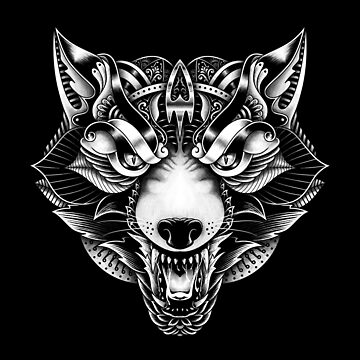 Lobo enojado adornado de quilimostock