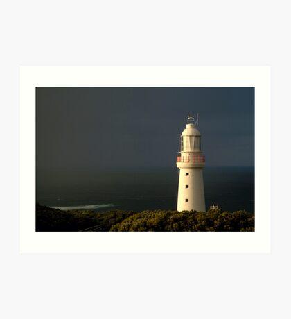 Sunrise Rain, Cape Otway Light Station Art Print