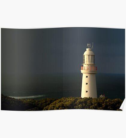 Sunrise Rain, Cape Otway Light Station Poster