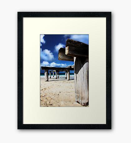 Jetty Ruins Framed Print