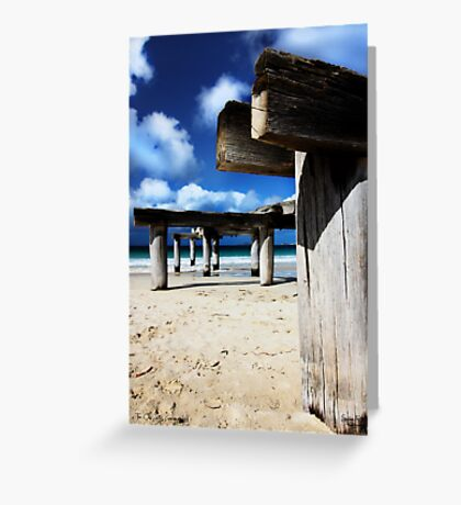 Jetty Ruins Greeting Card