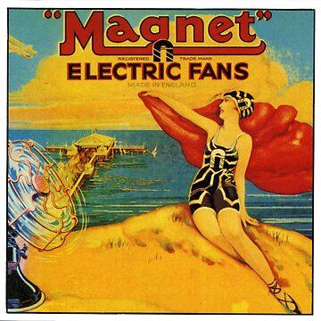 Magnet Electric Fan. 1920s Deco by taspaul
