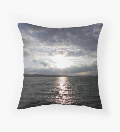 Cold, Hair-Raising Sunset  Throw Pillow