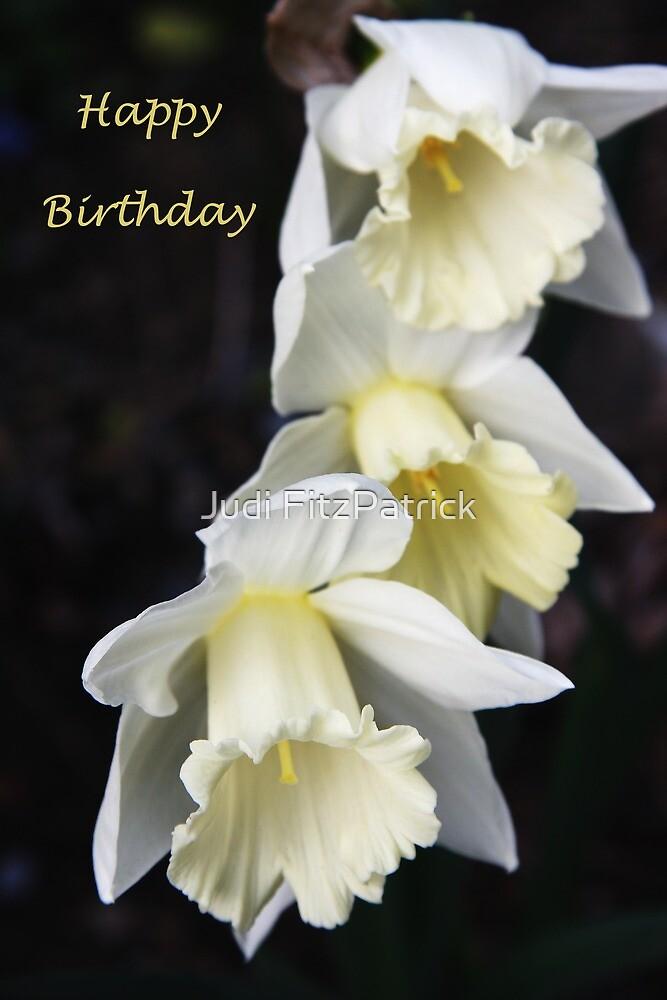 Three's Company Happy Birthday Greeting by Judi FitzPatrick