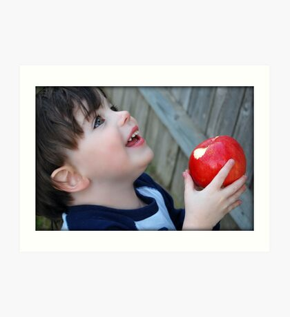 An apple a day...keeps the doctor away.... Art Print
