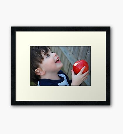 An apple a day...keeps the doctor away.... Framed Print