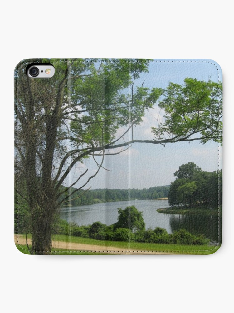 Alternate view of #landscape #tree #grass #water nature lake river summer wood outdoors environment reflection sky iPhone Wallet