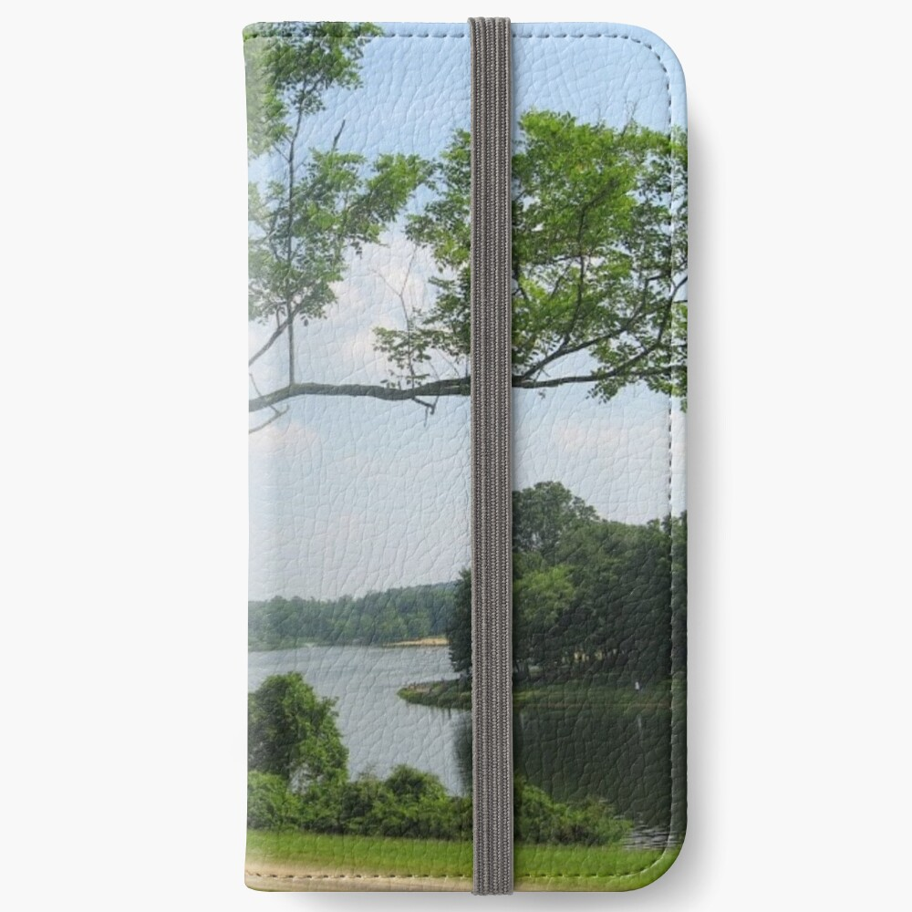 #landscape #tree #grass #water nature lake river summer wood outdoors environment reflection sky iPhone Wallet