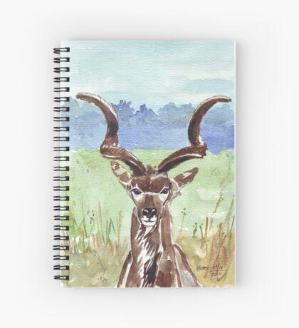 Greater Kudu (Tragelaphus strepsiceros) Spiral Notebook