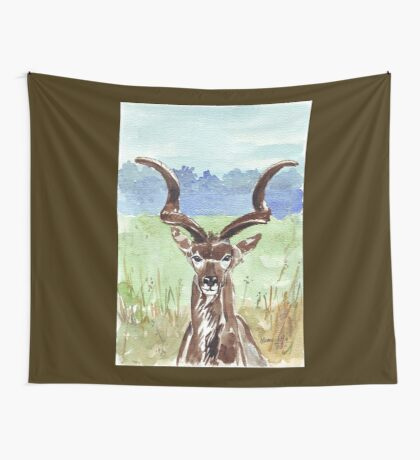 Greater Kudu (Tragelaphus strepsiceros) Wall Tapestry