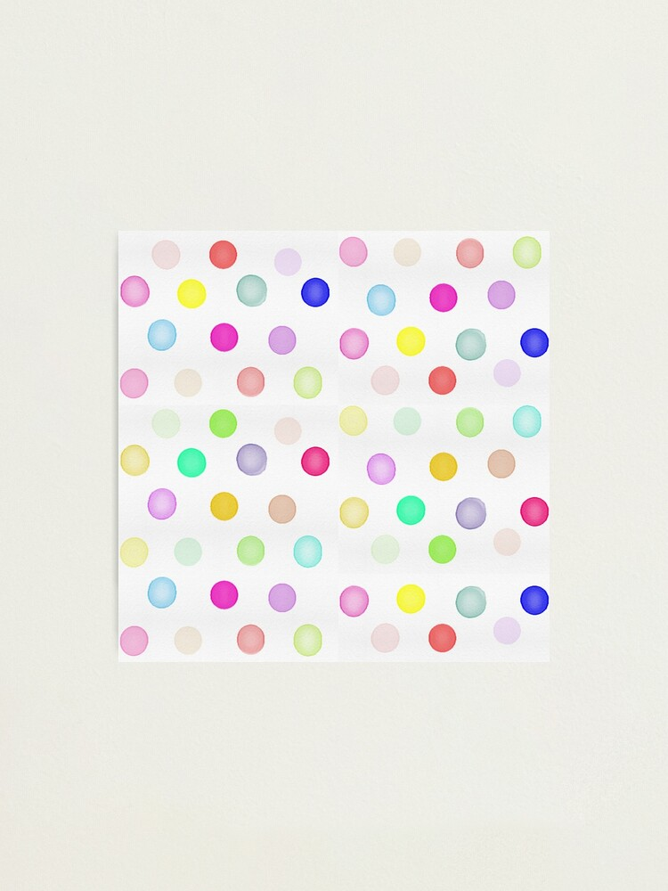 10 x Red Polka Dot Novelty Round Buttons