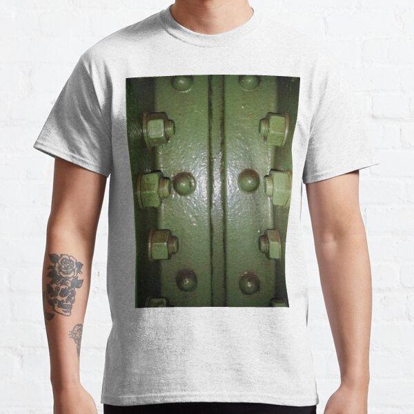 #lock #door #handle #knob steel metallic security old panel safety rusty keyhole entrance doorknob gate Classic T-Shirt