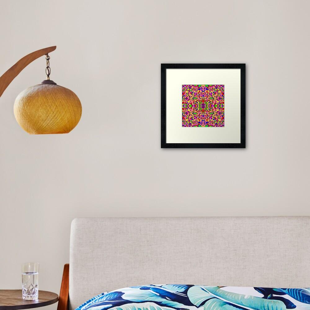 #abstract #pattern #design #decoration illustration art mosaic shape square Framed Art Print