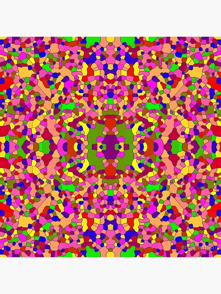 #abstract #pattern #design #decoration illustration art mosaic shape square by znamenski