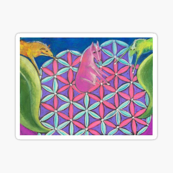 Sacred Geometry Horse Sticker