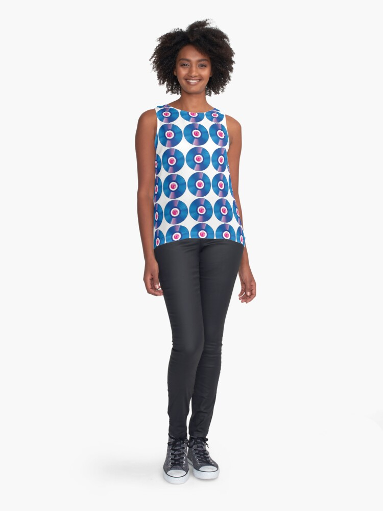 Alternate view of Sounds From The Bridge – Bright Blue Groove EP design Sleeveless Top