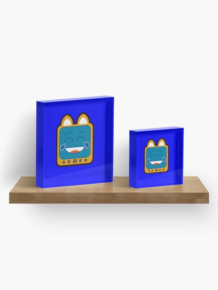 Alternate view of Television Kitty Laughing Acrylic Block