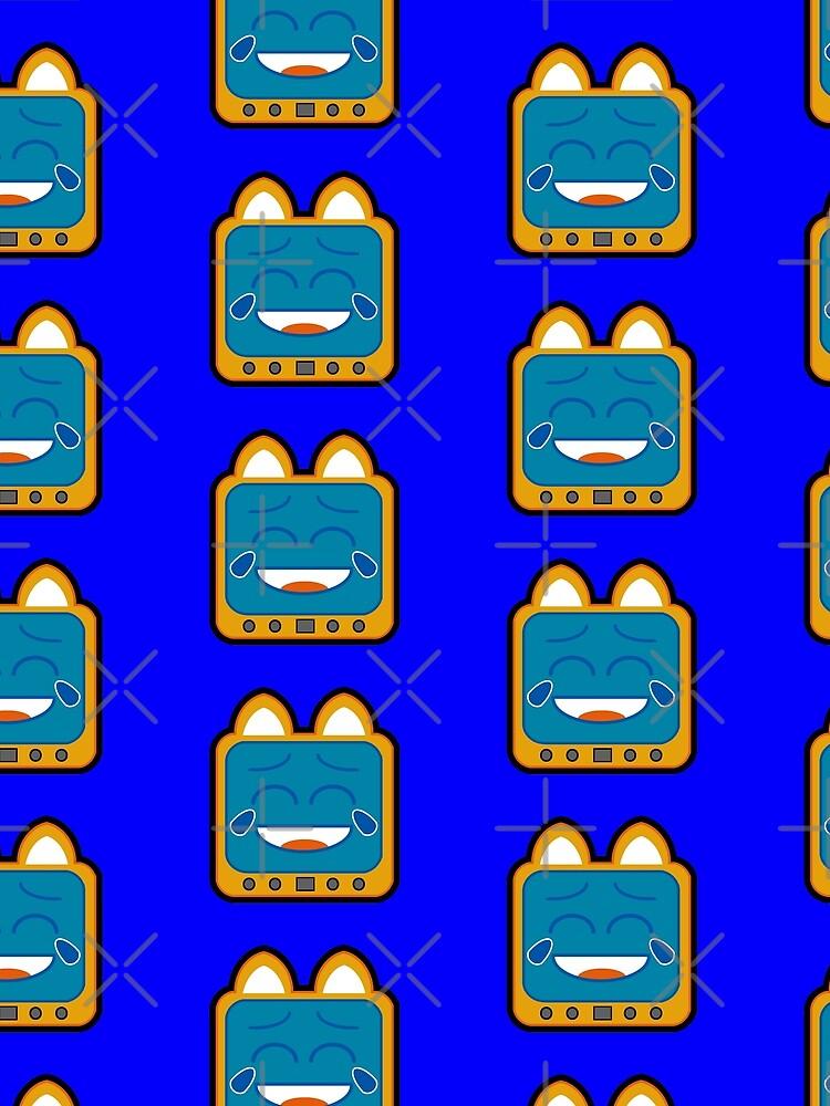 Television Kitty Laughing by eduardorandom