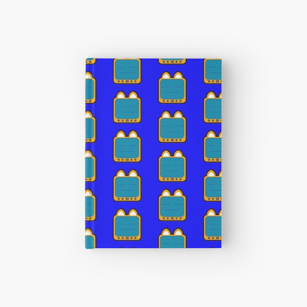 Television Kitty Lame Face Hardcover Journal