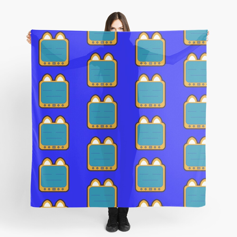 Television Kitty Lame Face Scarf