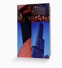 Skyscraper Offset Greeting Card