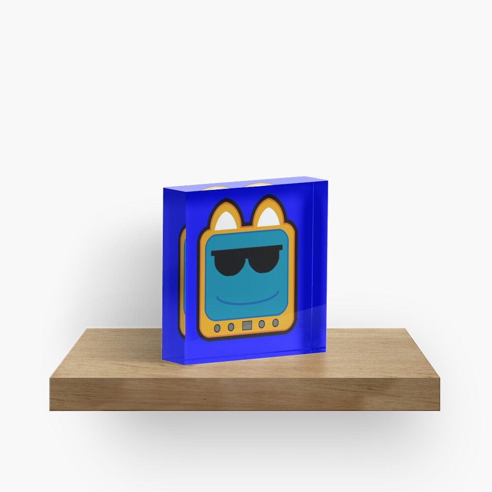 Television Kitty Cool Glasses 1 Acrylic Block