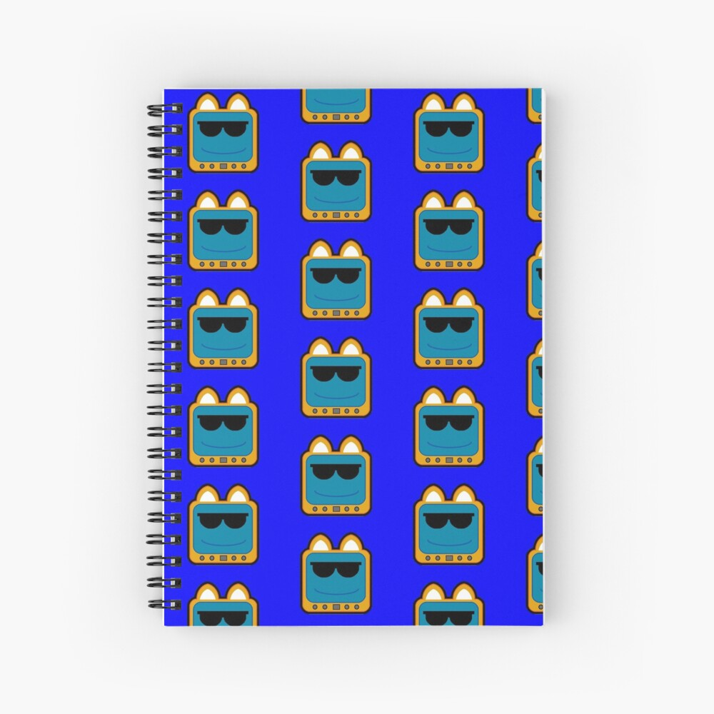 Television Kitty Cool Glasses 1 Spiral Notebook