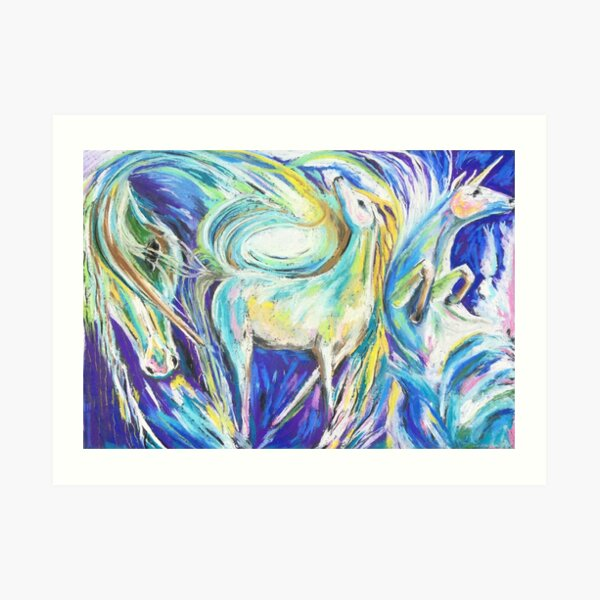Skyfalling Horse Art Print