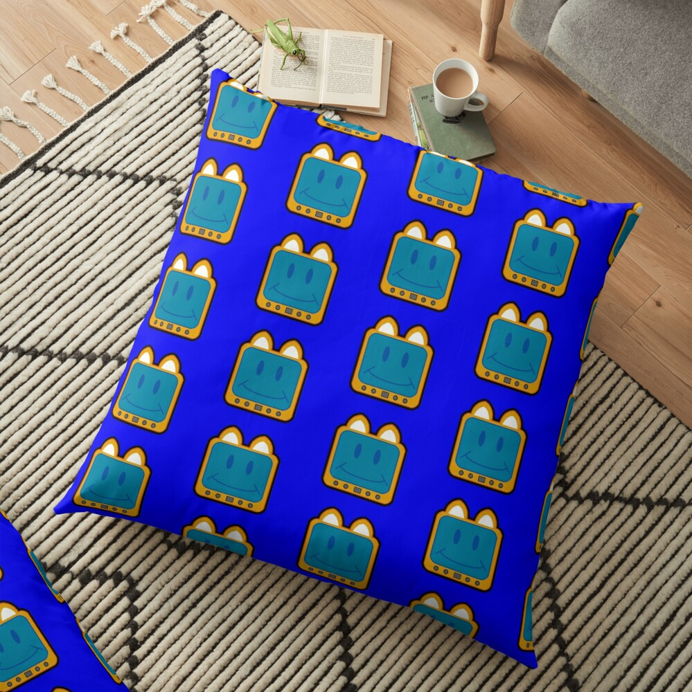 Television Kitty Smiling Floor Pillow