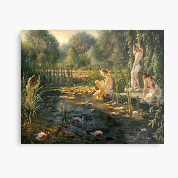 artist - Helene Beland #water #nature #outdoors #tree group river relaxation flower lake  Metal Print