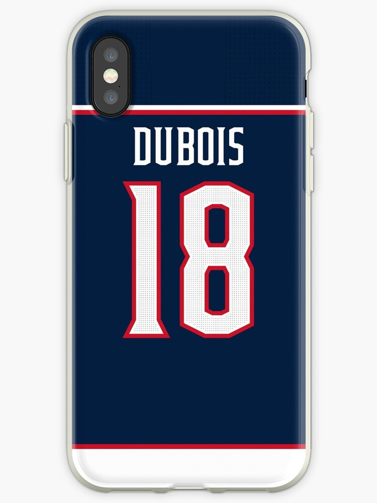 newest 96a9f 3c17a 'Columbus Blue Jackets Pierre-Luc Dubois Home Jersey Back Phone Case'  iPhone Case by IAmAlexaJericho