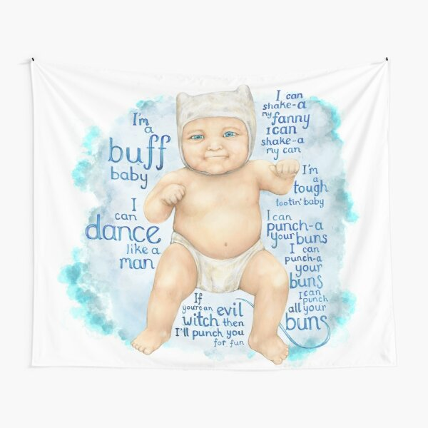 Finn the baby human Tapestry