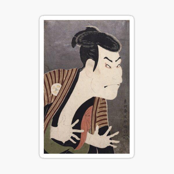 Japanese Art Print: Kabuki Actor Otani Oniji III as Yakko Edobei Sticker