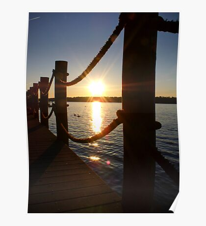 Sunset at the Dock Poster