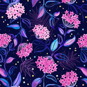 Tropical Midnight with Hoya Blossoms by marketastengl