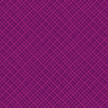 Diagonal Check Hand Drawn Lines / Purple by marketastengl