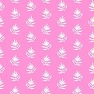 White Palm Leaves on Pink Background by Markéta Stengl