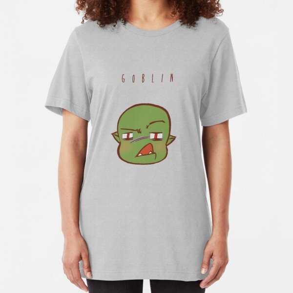 CUTE CHIBI Staring Goblin Slim Fit T-Shirt