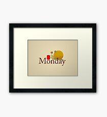 Monday Snail Framed Print