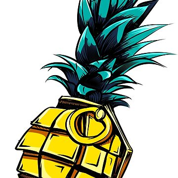 Pineapple Grenade - Party Rave Summer design by Nocturnalcultur