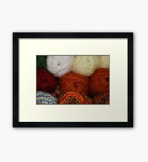 Autumn Skeins Framed Print