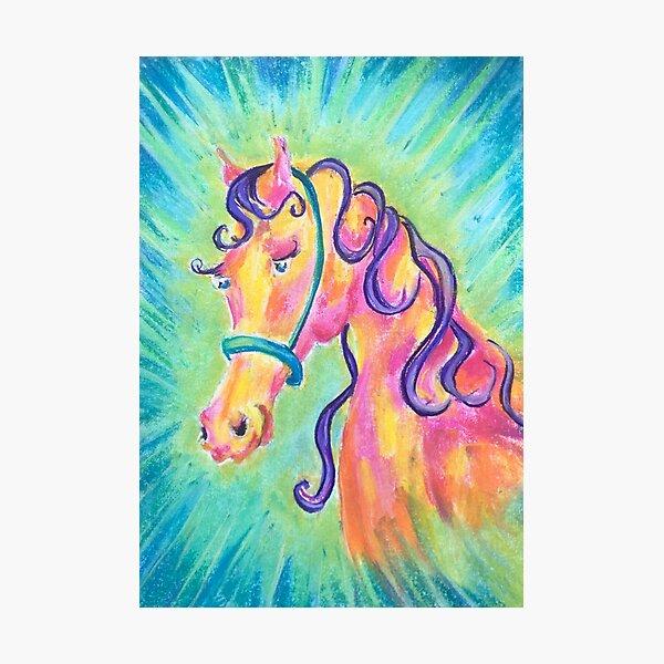Vulnerable Horse Photographic Print
