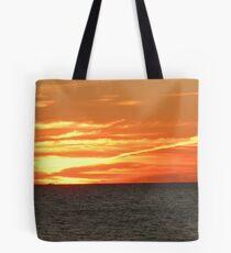 Crimson Sunset Ablaze Tote Bag