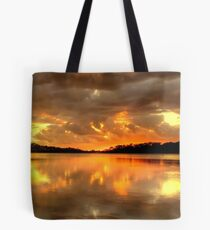 Chasing The Light (20 Exposure HDR Panoramic) - Narrabeen Lakes - The HDR Experience Tote Bag