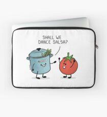 ¿Bailamos salsa? Le dice la olla al tomate Funda para portátil